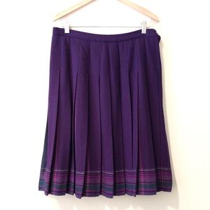 Pendleton Pleated Accordion A-Line Wool Skirt 10